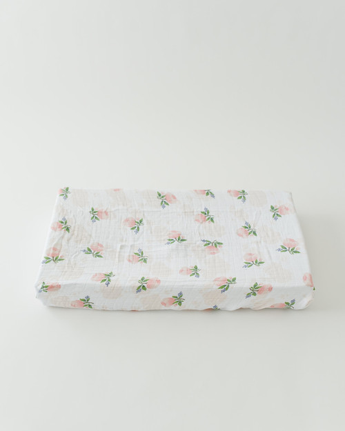 Muslin Changing Pad Cover, Watercolor Rose
