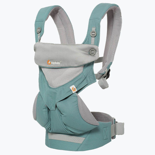 Ergo 360 Cool Air Mesh Four Position Baby Carrier, Icy Mint