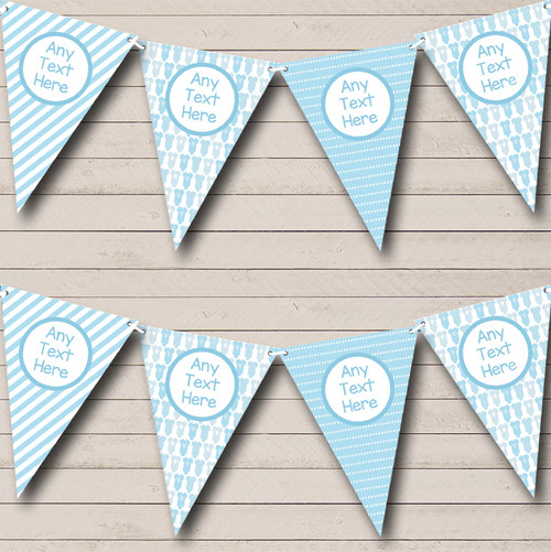 blue grows and balloons boy welcome home new baby bunting flag banner