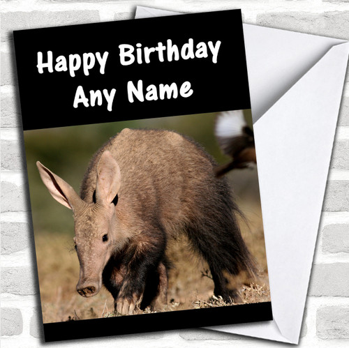 Personalized cards birthday cards animals wildlife pets cards aardvark personalized birthday card bookmarktalkfo Choice Image