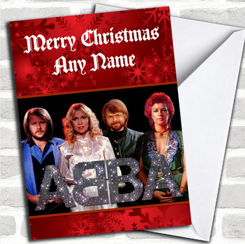 abba personalized christmas card - Photo Personalized Christmas Cards