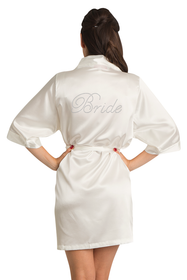 Rhinestone Bride Satin Robe