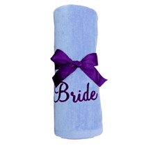 "Bride Beach Towel Sample ""Lavender"""