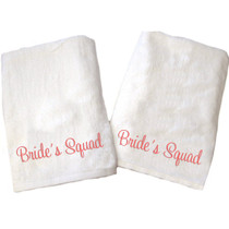 "Brides Squad Beach Towel Sample ""White"""