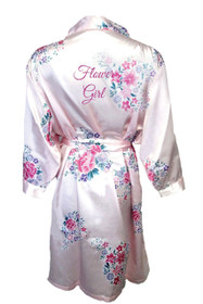 Floral Flower Girl Satin Robe