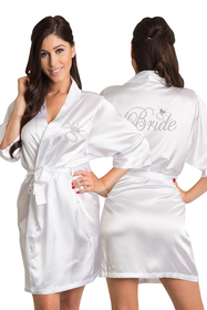Rhinestone Bride Robe with Diamond
