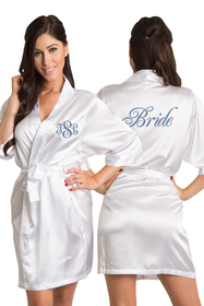 Custom Embroidered Bride Robe with Monogram