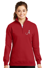 Women's Embroidered Initial Quarter Zip