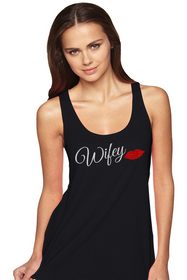 Wifey Racerback Tank with Lip