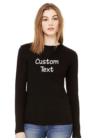 Customize Your own Long Sleeve Top-Rhinestone
