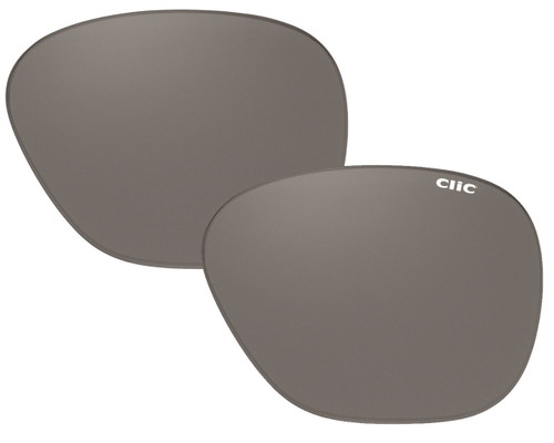 Clic Sunglass Aviator XXL Replacement Lenses (Left & Right Lenses): Polarized Gray