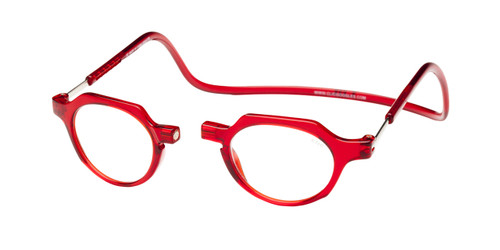Clic Metro Oval Reading Glasses in Red