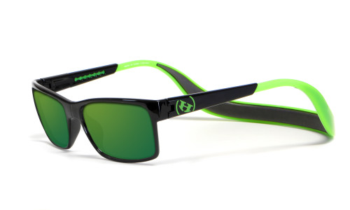 Hoven Eyewear MONIX in Black / Bright Green with Green Polarized Lens