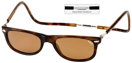 Clic Ashbury Wide Sunglasses in Tortoise with Amber Lens