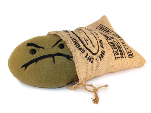Plush Grumpy Bean (Green)