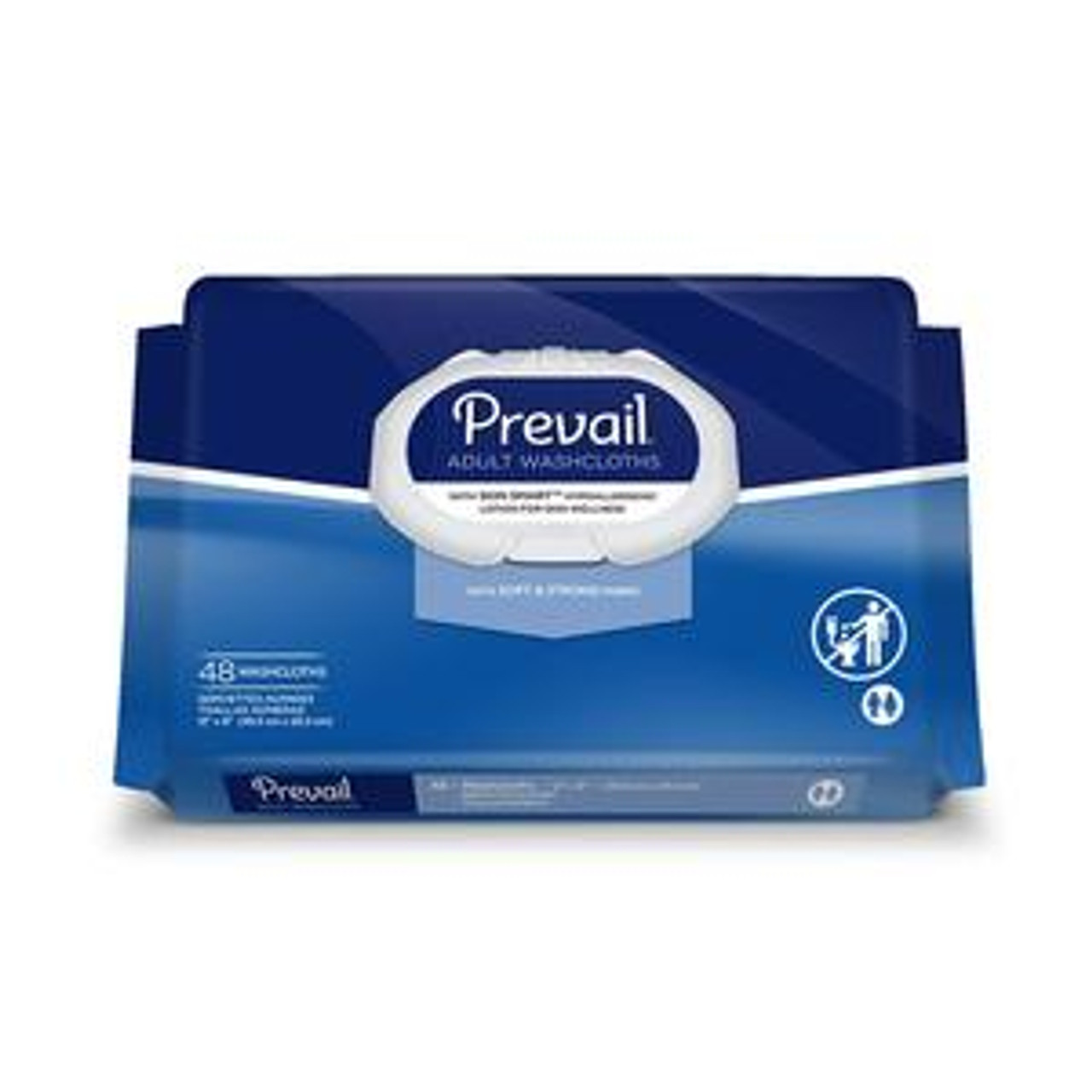 Prevail® Disposable Adult Washcloth with Press-n-Pull Lid