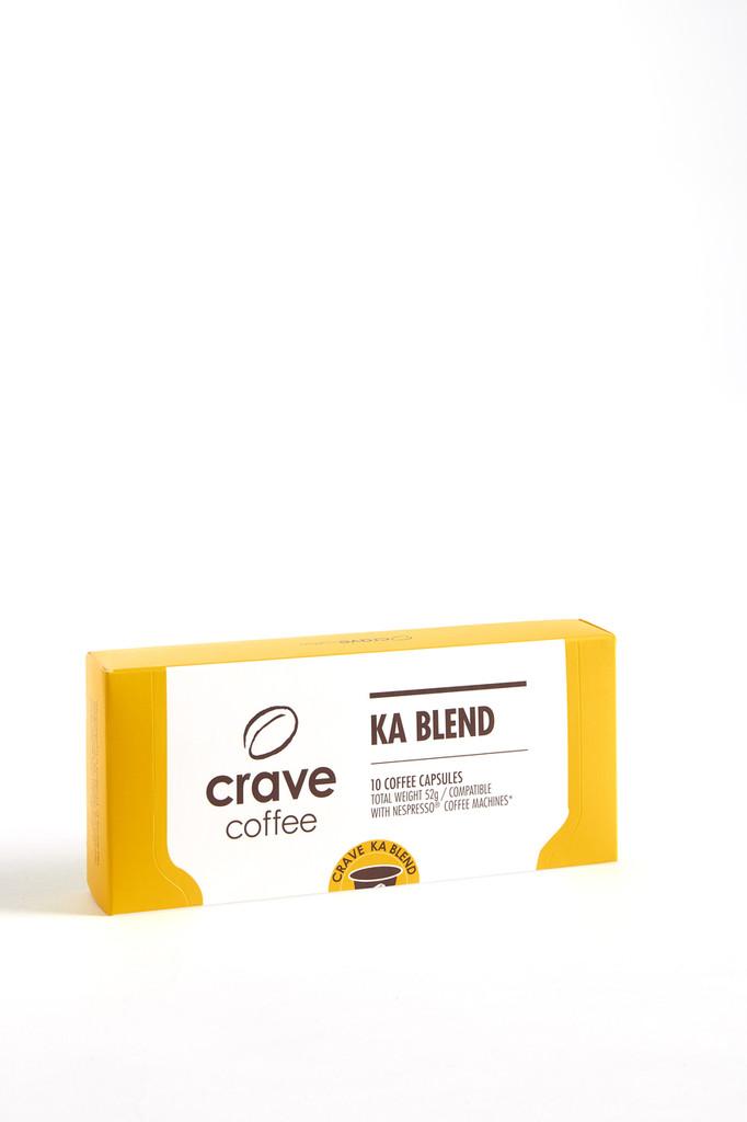 Nespresso(tm) Compatible Capsules Pods - Pack of 10 -KA Blend