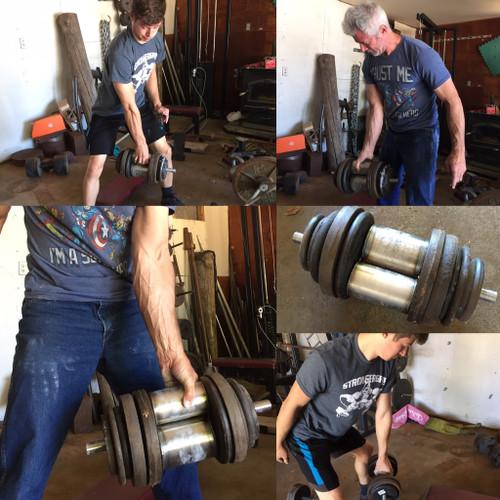 Double Barrel DeathGrip Dumbbell
