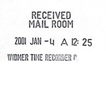 Widmer T-3 Time Stamp Sample Impression