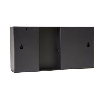 Inova On-Time Wall Clock ONT4BK-G Black Aluminum Case with 4 Digit Green LED