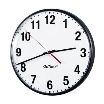 "Inova ONT12-BK On-Time 12"" Analog Clock - Single Sided"