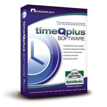 Acroprint's Virtual Time Clock Offers 2 programs, Quick Punch for easy punching in and out on the desktop, and Virtual Clock which also allows employees to see additional information about their punches and time card.