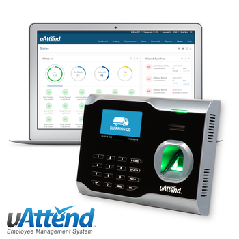 uAttend BN6500 Fingerprint & Pin Entry Time Clock with Wifi