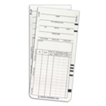 Weekly or Bi-Weekly Time Cards for the MRX-35 Time Clock