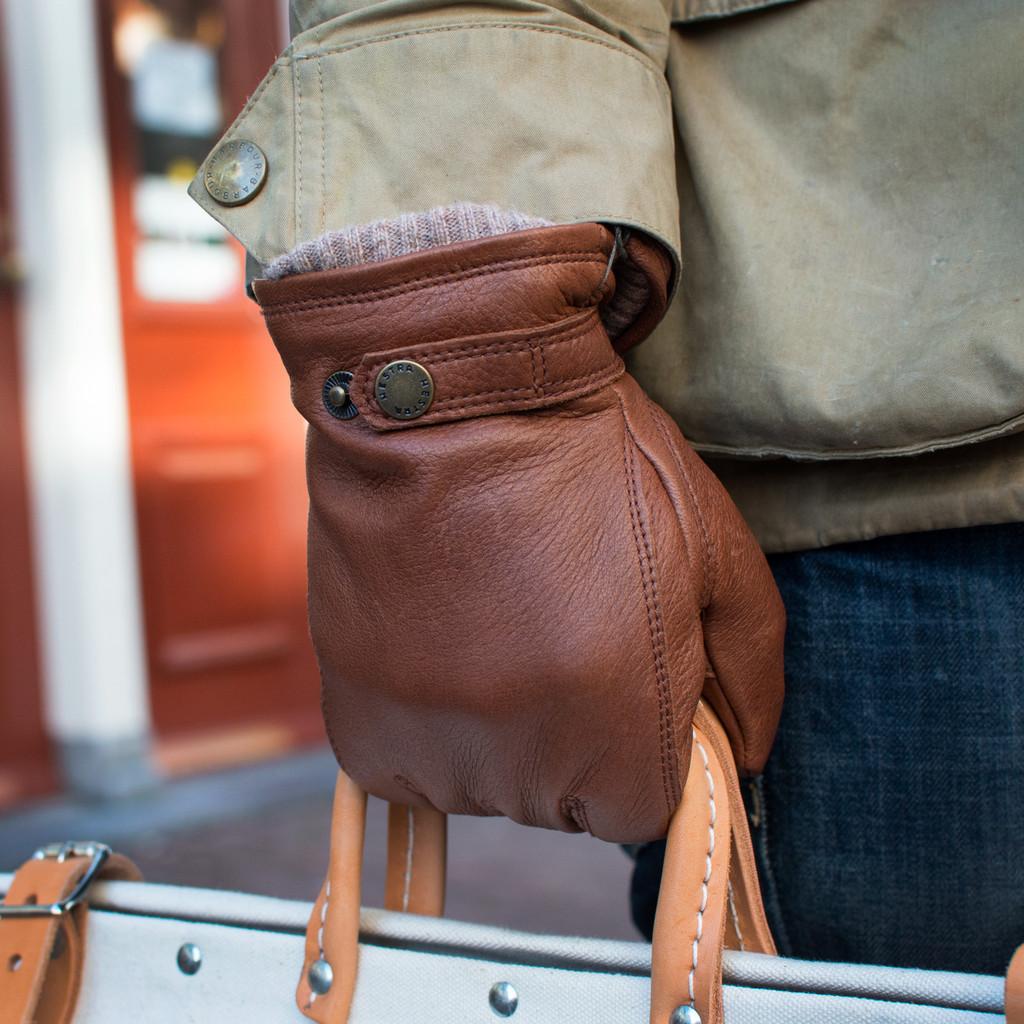 Elk Leather Button Glove