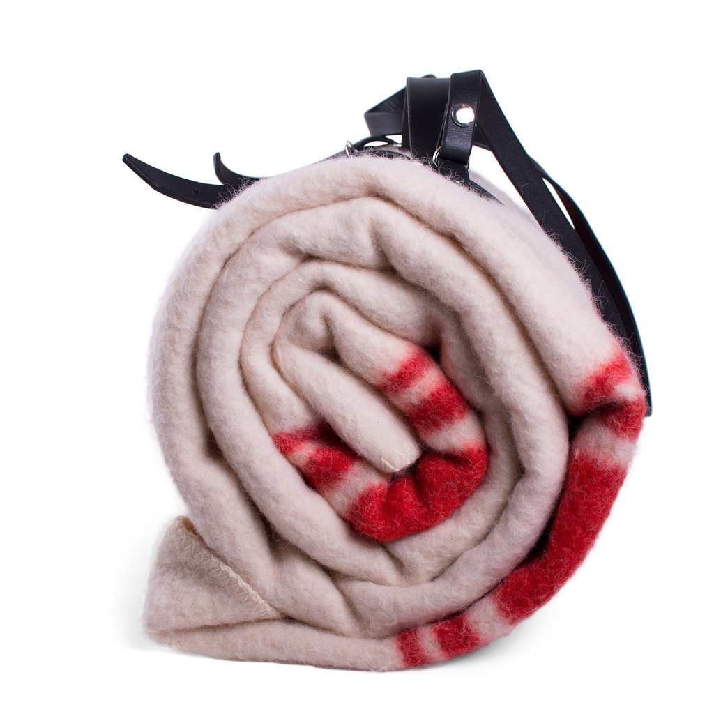 Wool Blanket with Carrying Strap