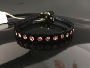 Black velvet with Pink crystals 12""