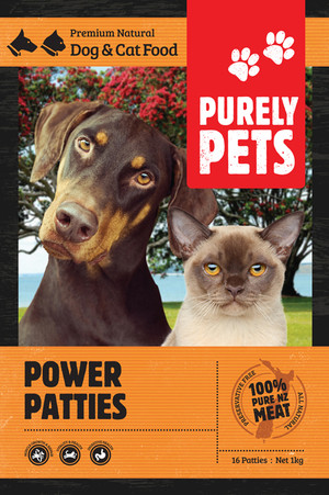 Purely Pets Power Patties 1kg