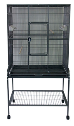 Flight Cage Pewter With Stand