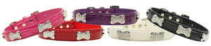 Faux Croc Crystal Bone Collars