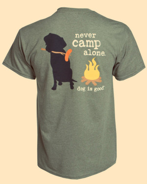 Never Camp Alone Unisex Tee L