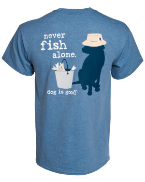 Never Fish Alone Unisex Tee M