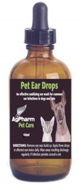 AgPharm Pet Ear Drops 100mL