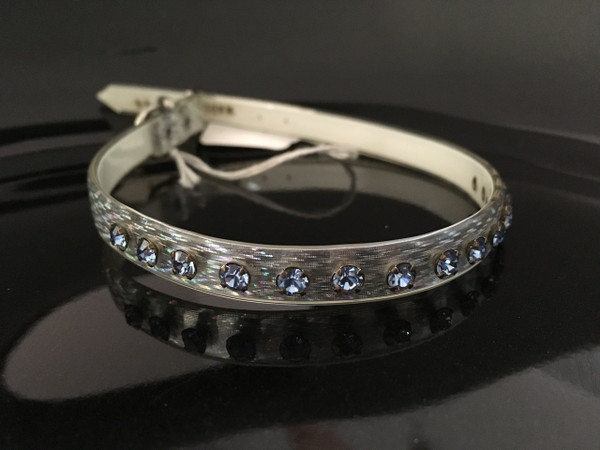 """Silver Jelly with blue crystals 14"""""""