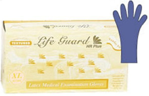 Powder-Free Thick Latex Exam Gloves: 500 MEDIUM