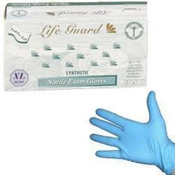 Powder-Free Blue Nitrile Exam Gloves: 1,000 XX-LARGE