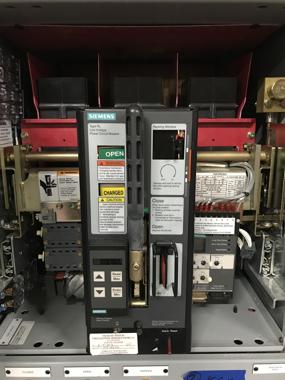Siemens Rl Breaker Wiring Diagram Explore Schematic Cubicle 1600 1600a Eo Do Lsi Air Circuit Bullock Breakers Rh Bullockbreakers Com Mcc Starter Diagrams 3 Phase Motor