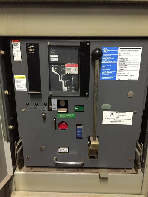 DSL-416 Westinghouse 1600A MO/DO 2000A Fuses LSI Air Circuit Breaker