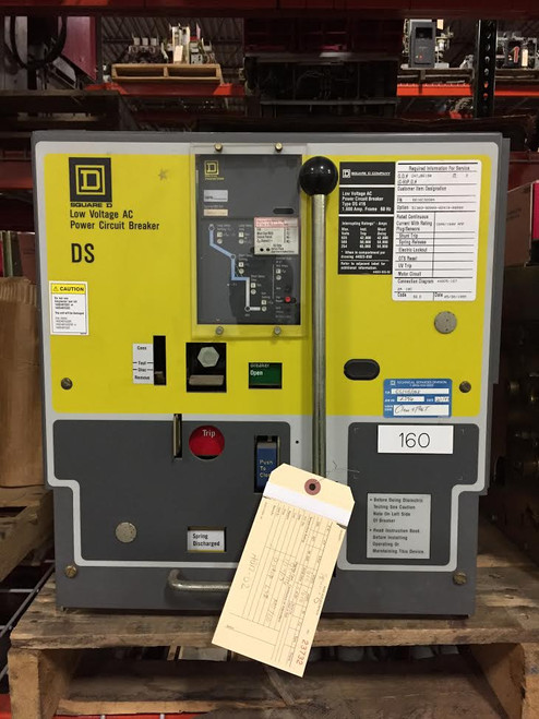 DS-416 Square D 1600A MO/DO LSI Air Circuit Breaker.