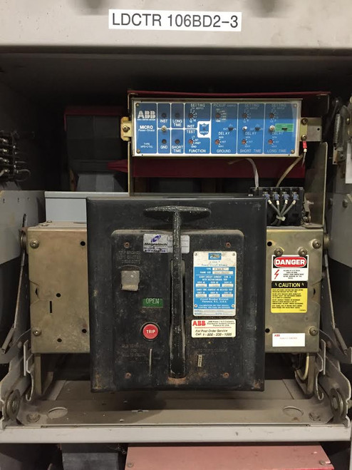 K-2000M ABB Red 2000A MO/DO LSIG Air Circuit Breaker