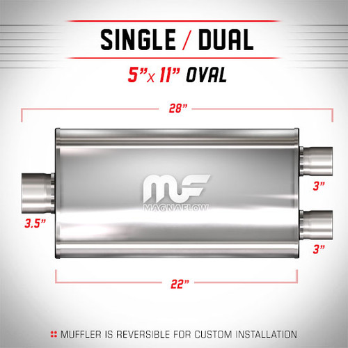Magnaflow 12595_Satin Stainless Muffler
