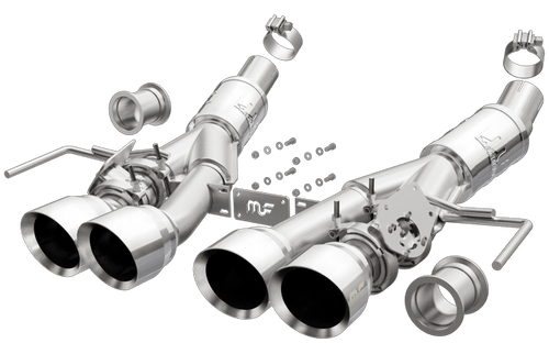 Magnaflow 19379 Chevrolet C7 Corvette 2 Valve equipped only ( Aggressive-Quad Center Exit ) Stainless Performance Exhaust System