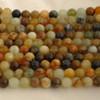 High Quality Grade A Natural Flower Jade Semi-precious Gemstone Round Beads - 4mm, 6mm, 8mm, 10mm sizes