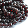 High Quality Grade A Natural Garnet Semi-Precious Gemstone Round Beads - 4mm, 6mm, 8mm, 10mm, 12mm sizes