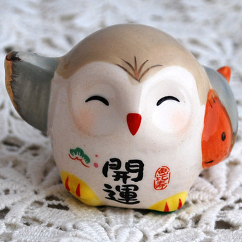 Japanese Feng Shui Lucky Owl - Good Luck Fish