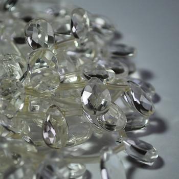 10 High Quality Natural Clear Quartz Crystal Semi-precious Gemstone Faceted Teardrop Beads / Pendant 12mm 14mm 18mm